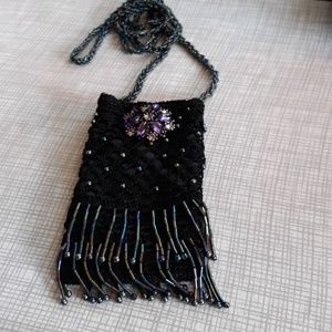 Stunning beaded shoulder bag